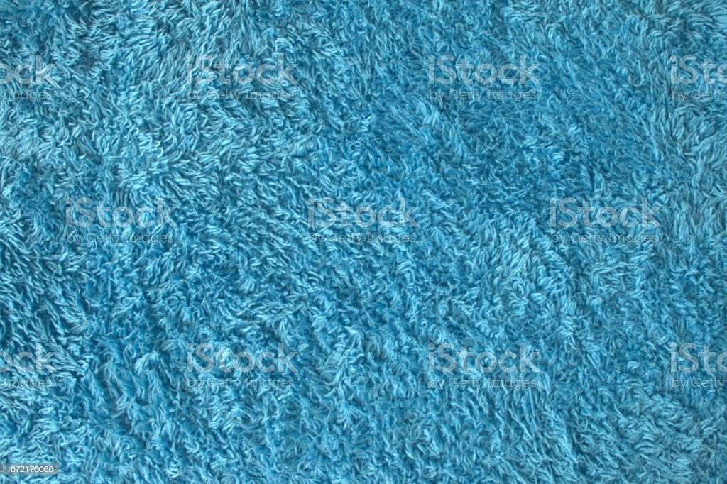 Blue Soft Fluffy Fleece Long Open Sling Terry Cloth Fabric