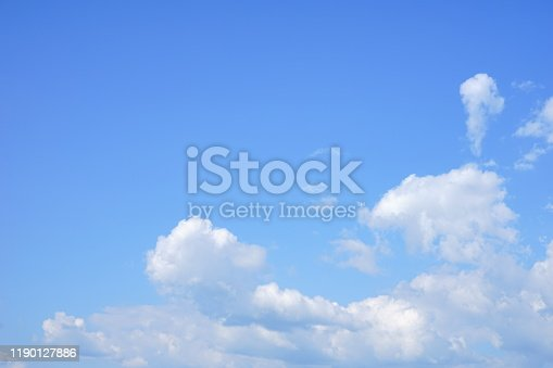 878607638 istock photo Blue soft sky 1190127886