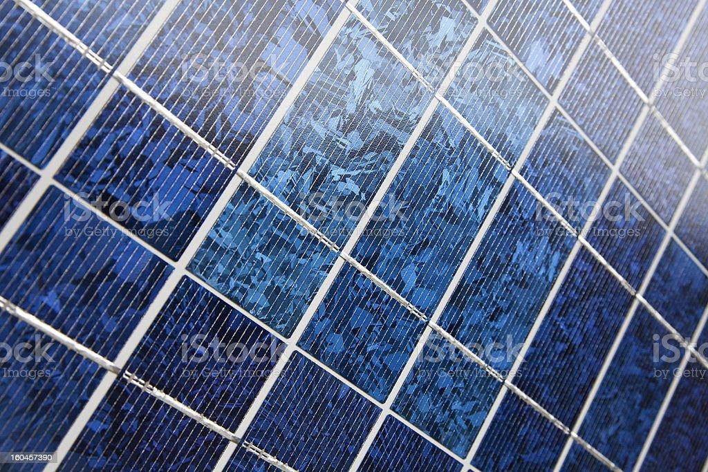 Blue solar cells royalty-free stock photo