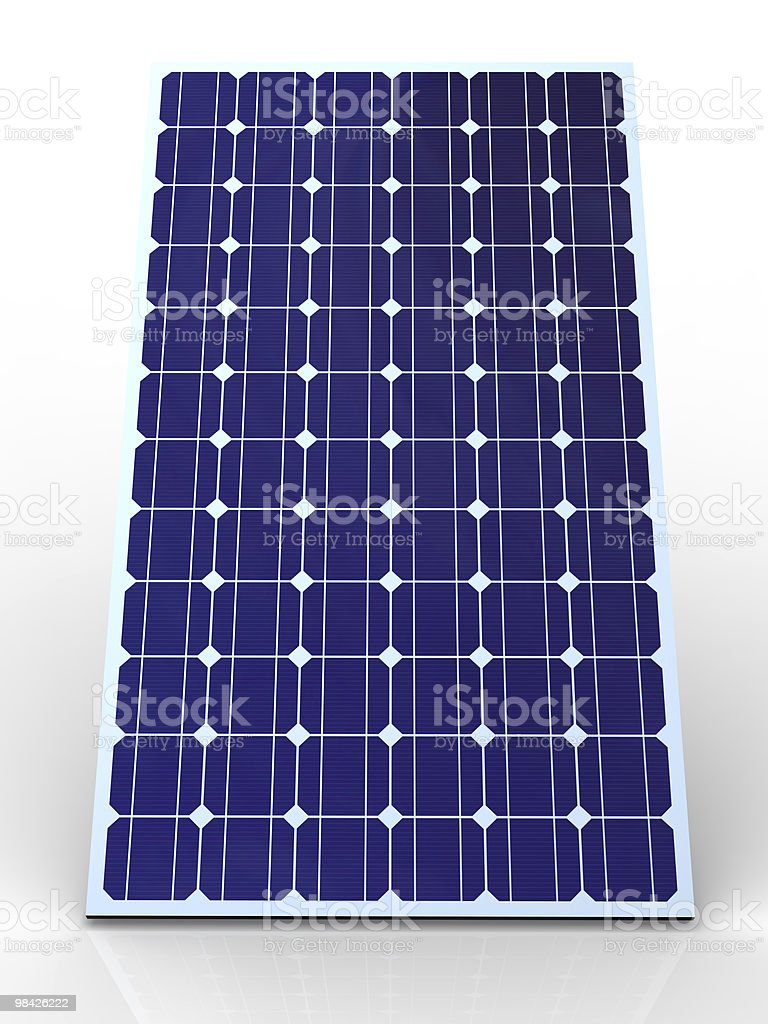 Blue solar panel royalty-free stock photo