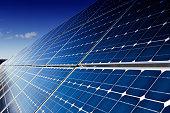 Blue solar panels