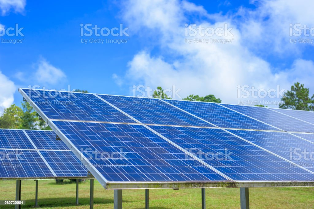 Blue solar panels foto de stock royalty-free