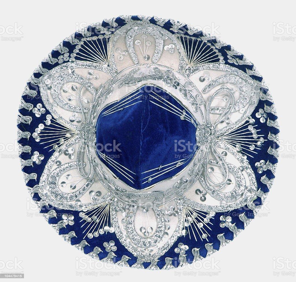 blue sombrero royalty-free stock photo