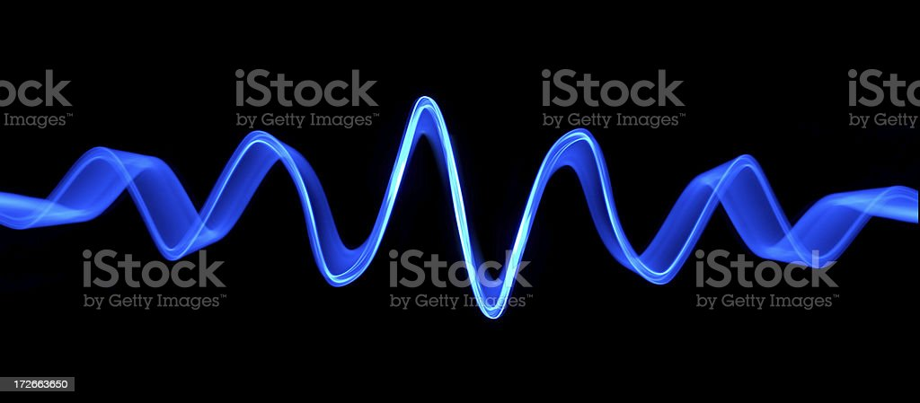 Blue Sound Wave stock photo