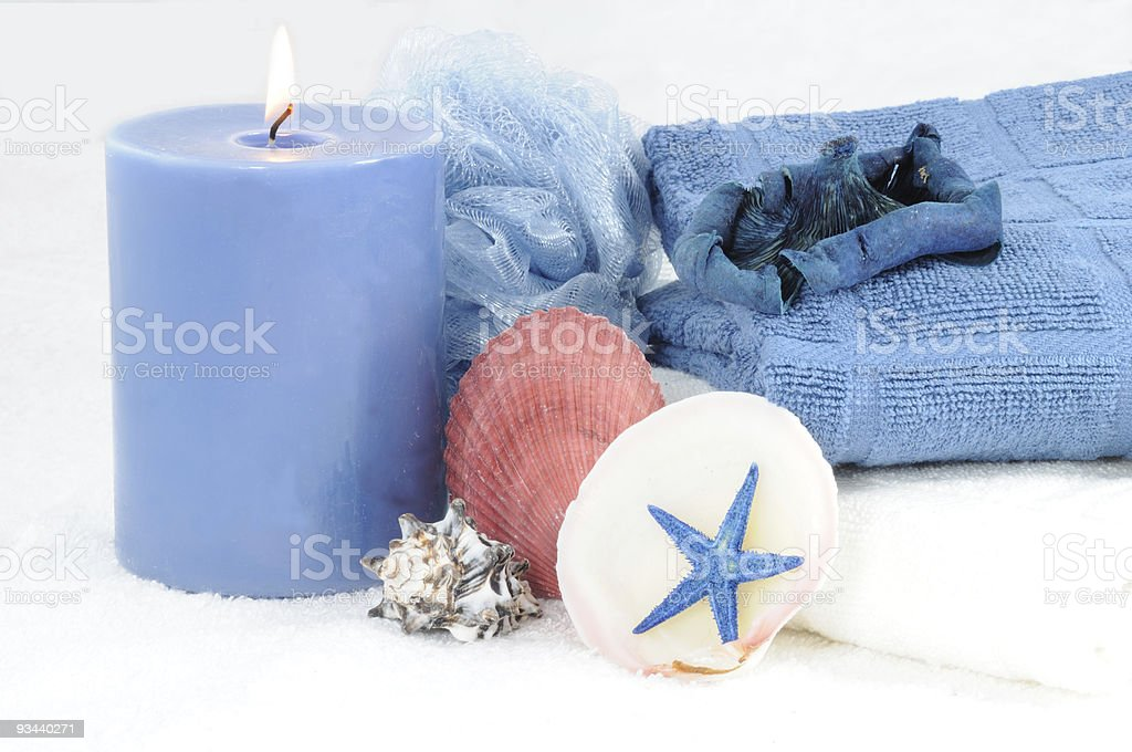 Blue Spa stock photo