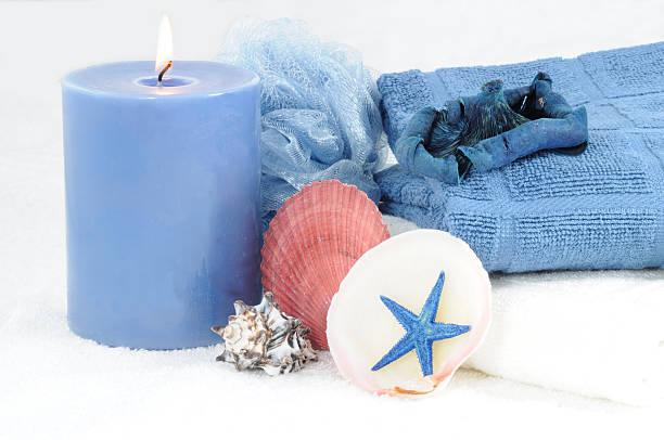 Blue Spa stock photo