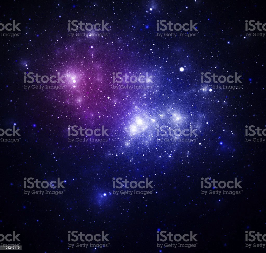 Blue space nebula royalty-free stock photo