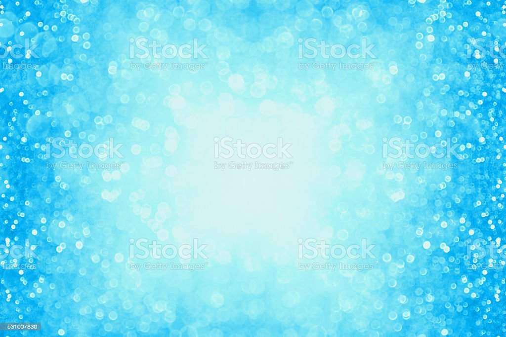 Blue Sparkle Confetti Background Party Invite stock photo