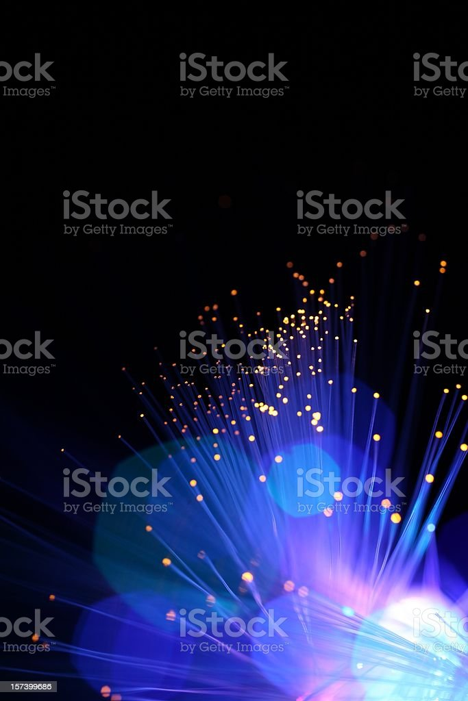 Blue Sparkle Lights stock photo