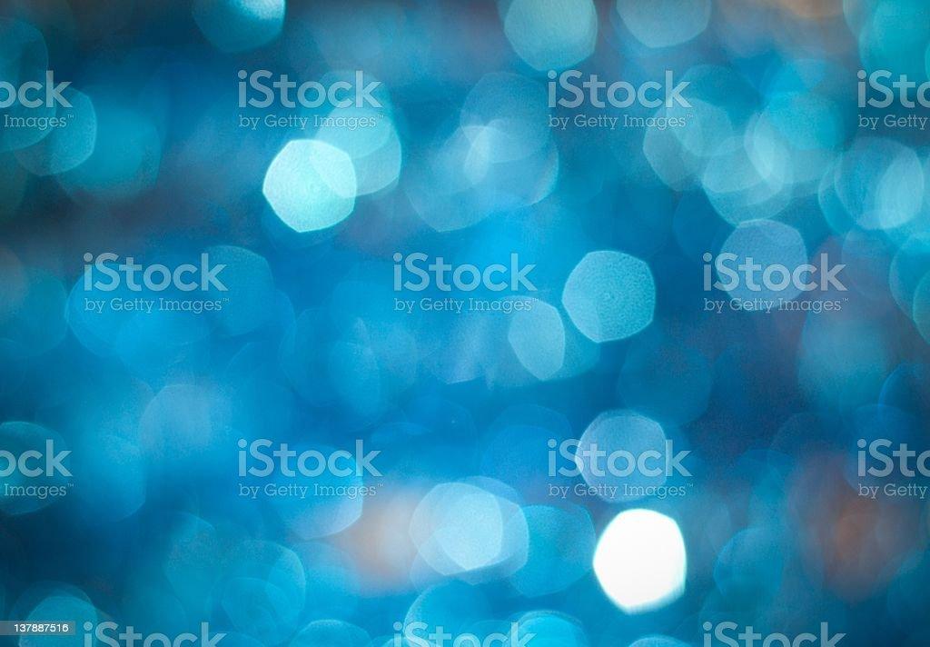 Blue sparkles stock photo