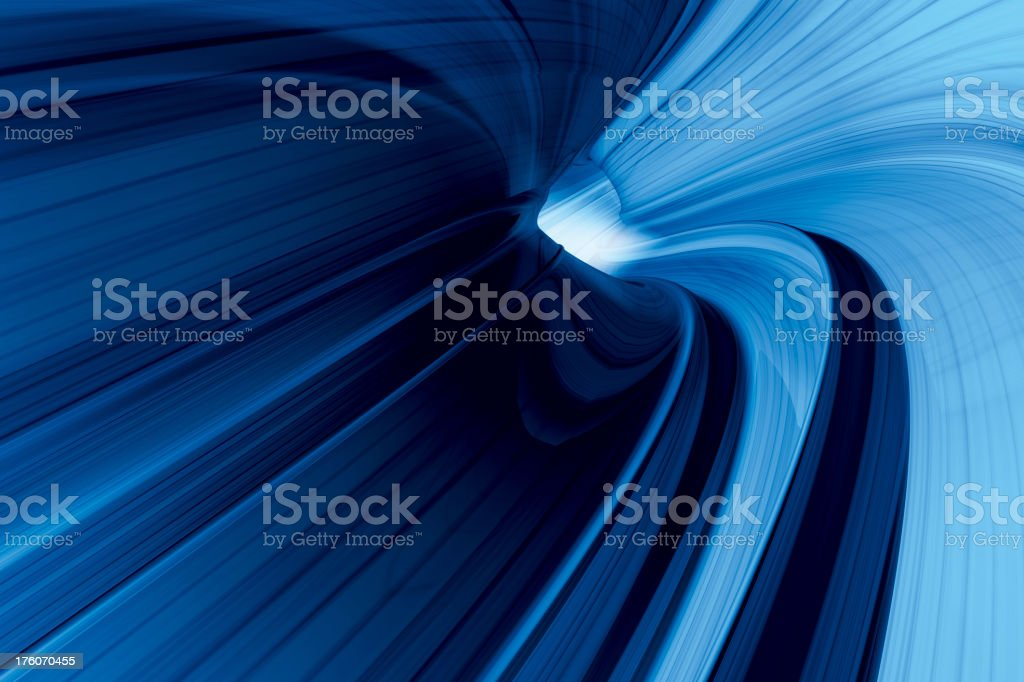 Blue Speed Tunnel royalty-free stock photo