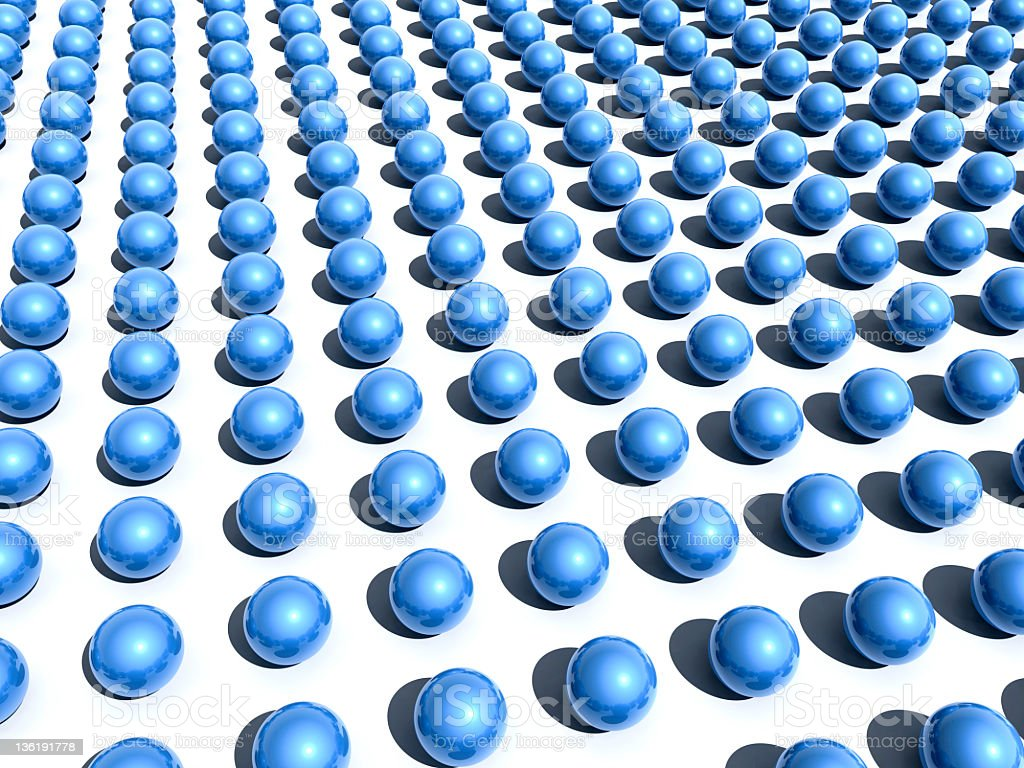 Blue spheres royalty-free stock photo