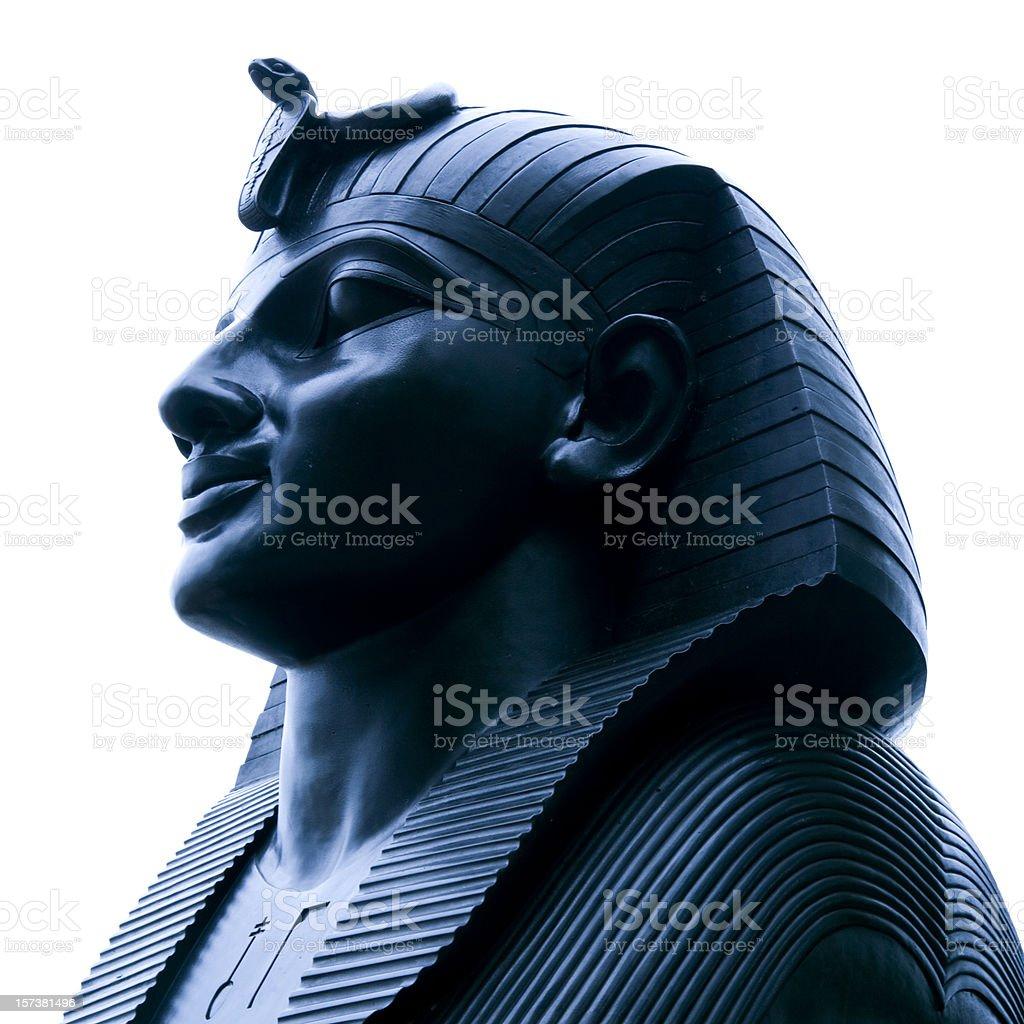 Blue sphinx royalty-free stock photo
