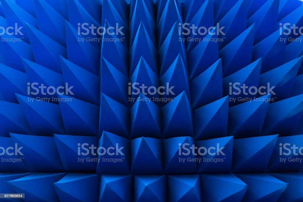Blue spikes stock photo