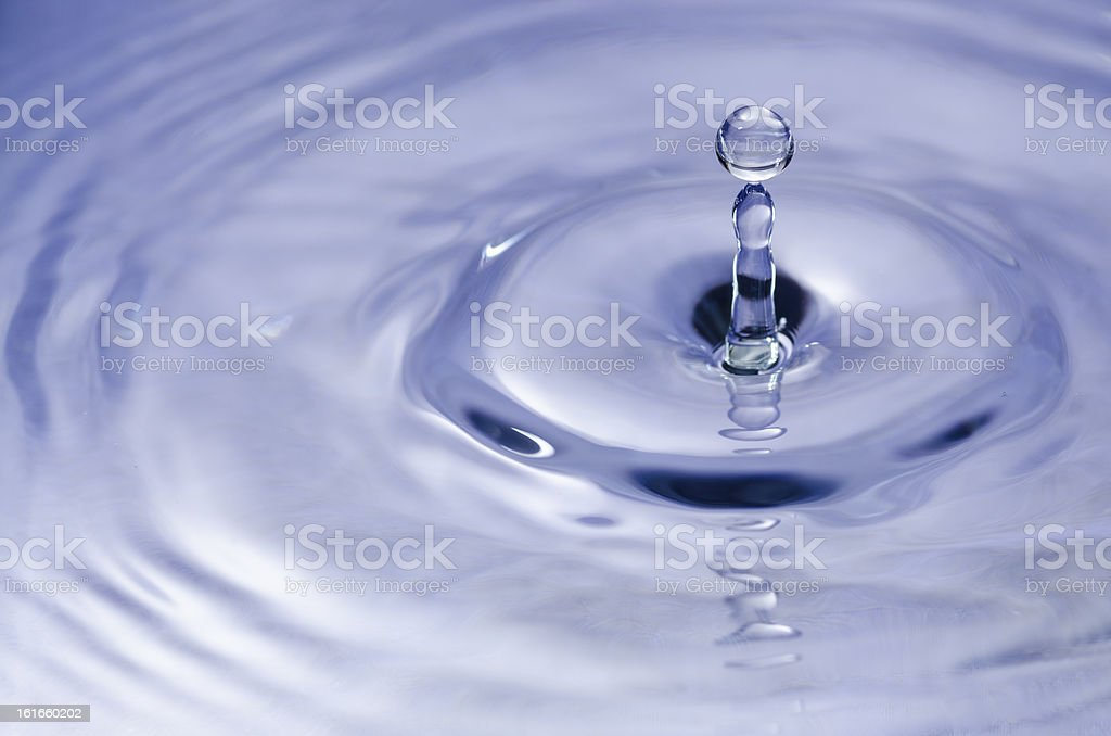 blue splash water royalty-free stock photo