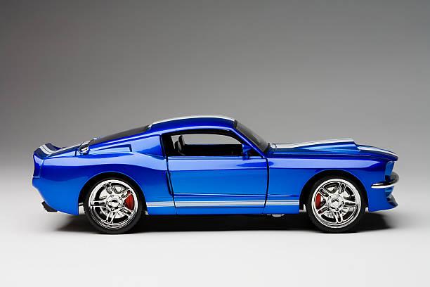 Blue Sport Car stock photo
