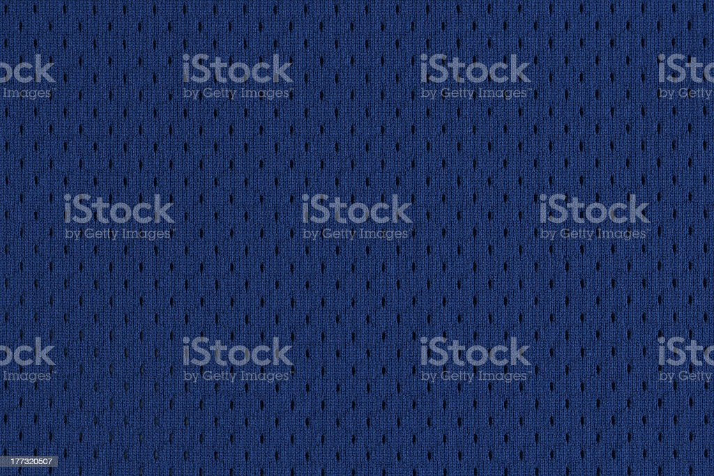 Blue Sports Jersey Texture stock photo