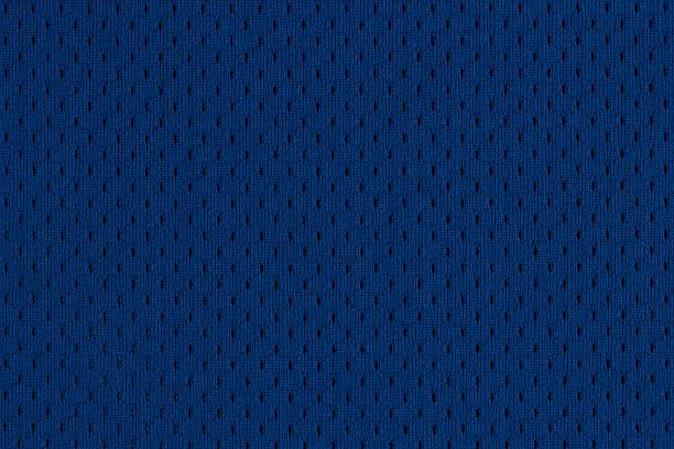 Blue Sports Jersey Texture stock photo