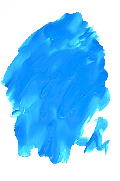 blue spot on a white background - thick stock pictures, royalty-free photos & images