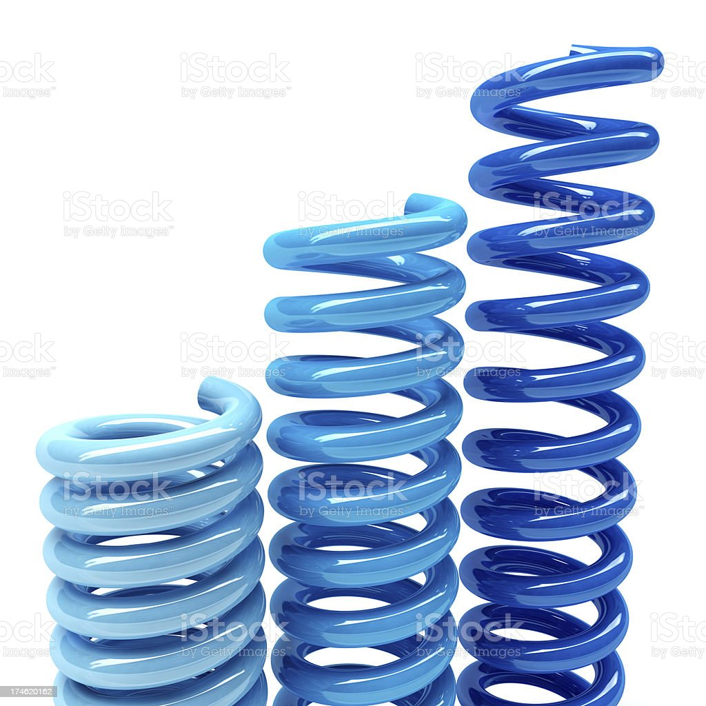 3D Blue  Springs stock photo
