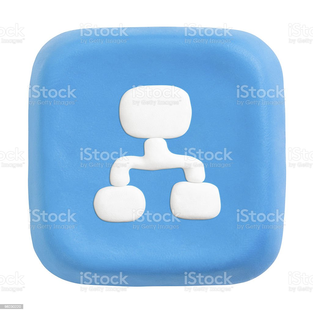 Blue square site map key. Clipping paths for button, icon royalty-free stock photo