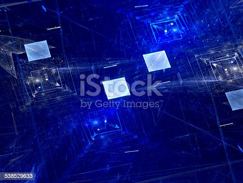 istock Blue squares and new technologies 538529633