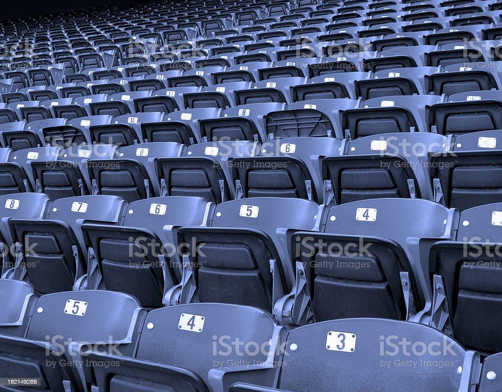Blue Stadium Seating royalty-free stock photo