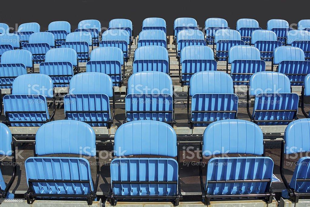 Blue Stadium Seats stock photo