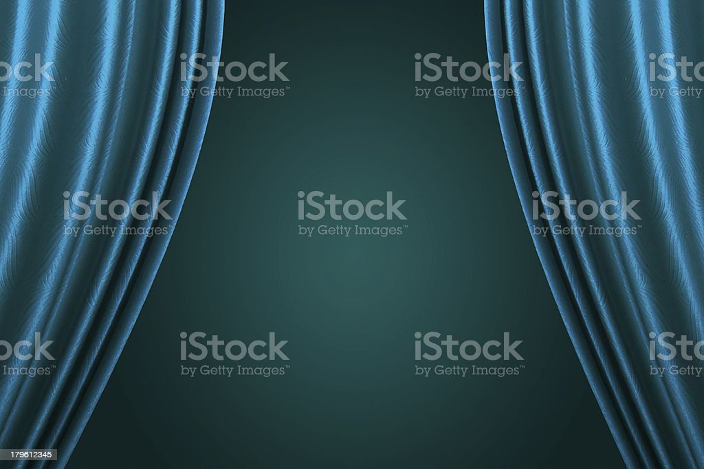 Blue Stage Curtain royalty-free stock photo