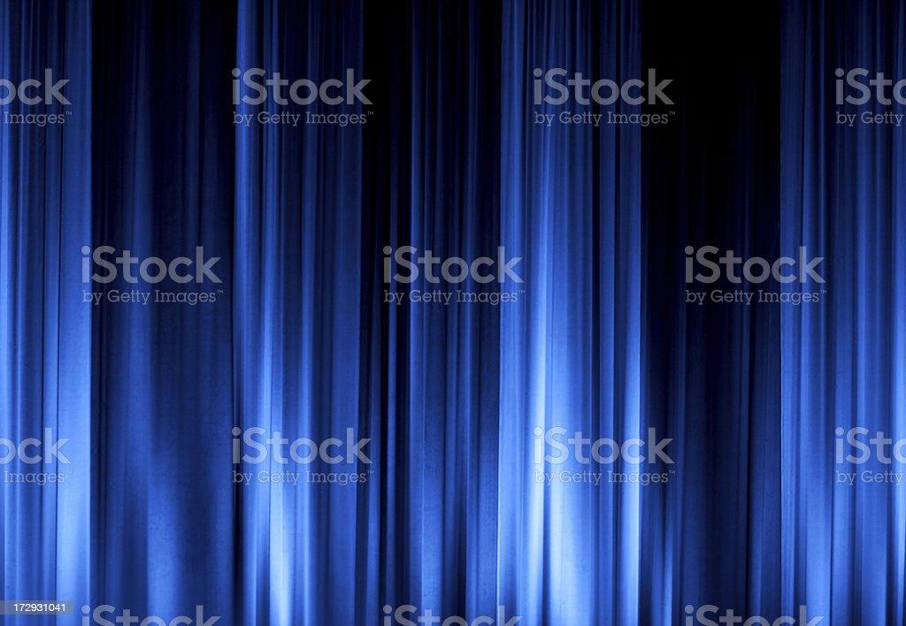 Blue Stage Curtain XXL stock photo