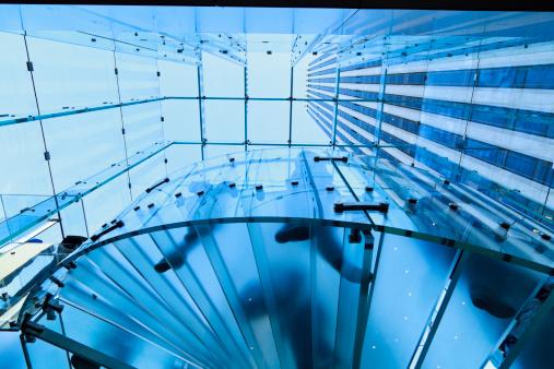 Blue stair case