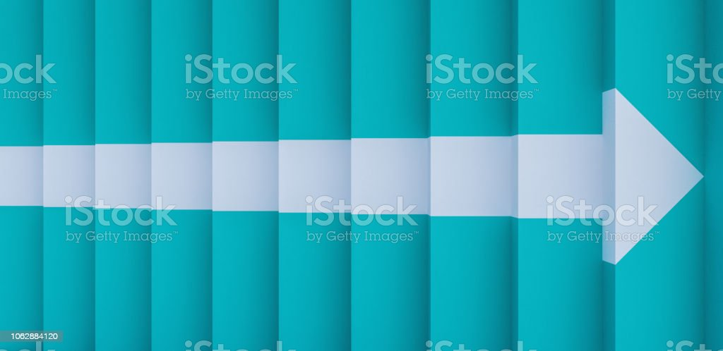 blue stairs with a arrow sign 3d render 3d illustration royalty-free stock photo