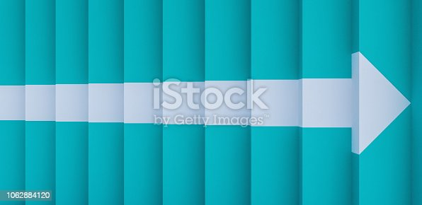 blue stairs with a white arrow sign 3d render 3d illustration