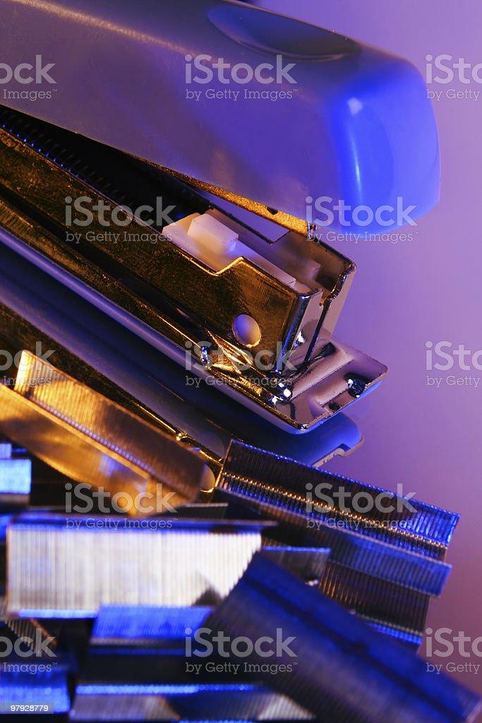 Blue stapler royalty-free stock photo