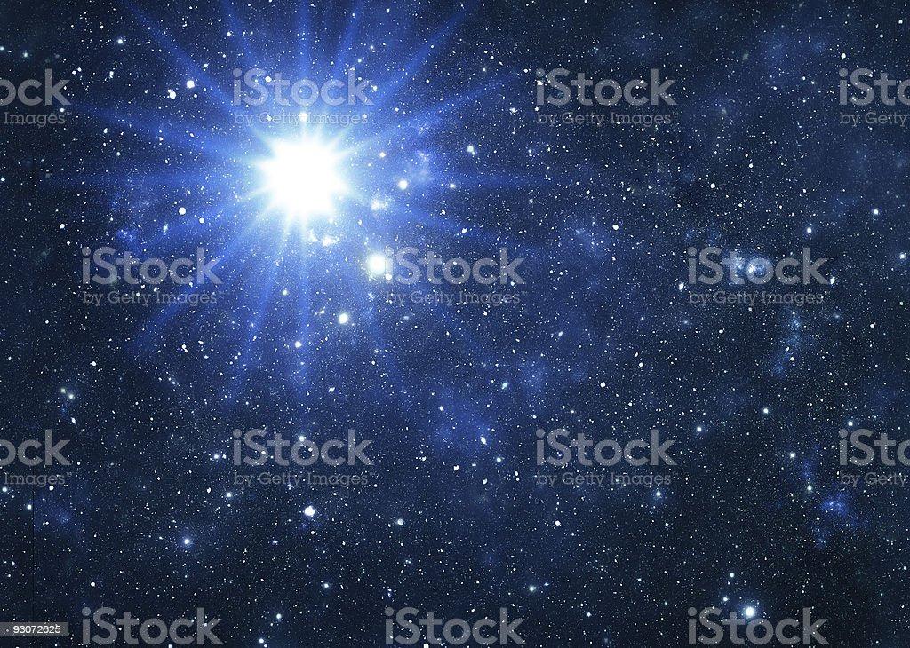 Blue star flare stock photo