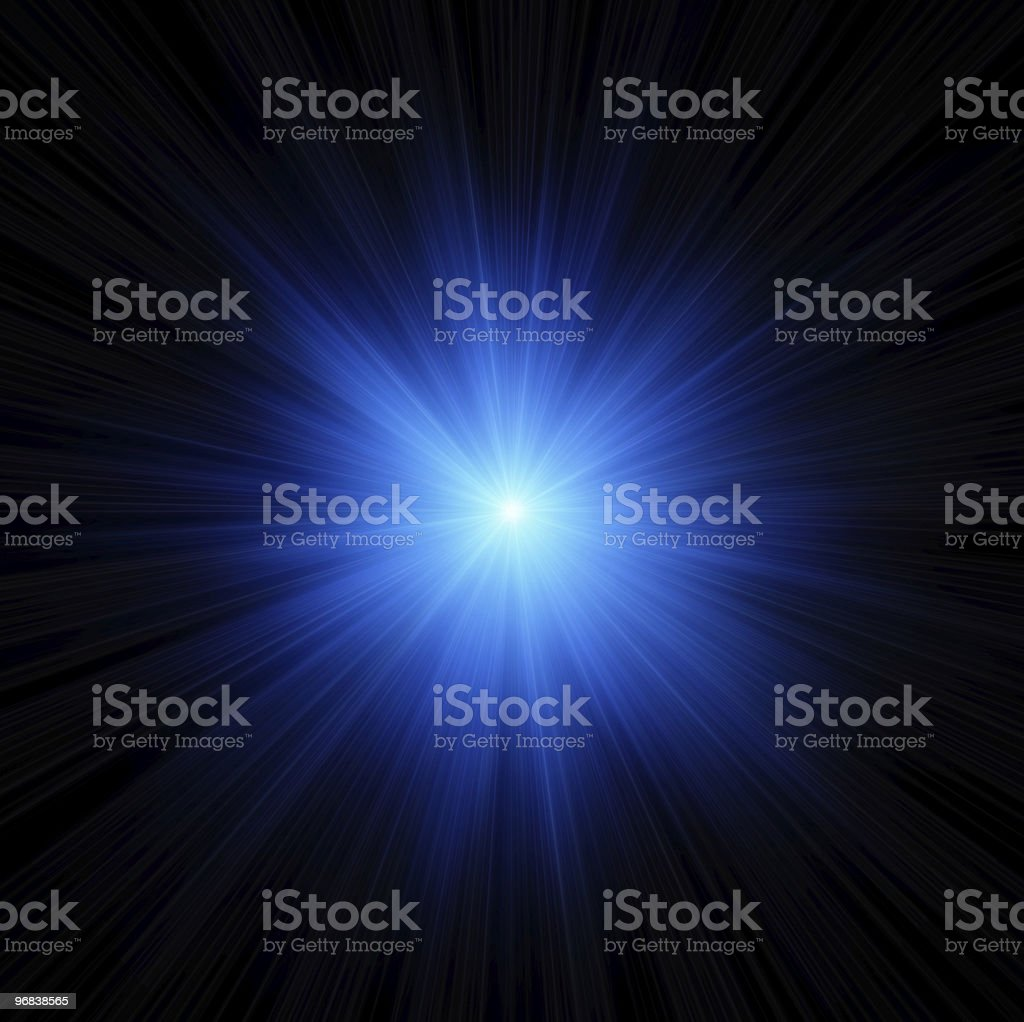 Blue star flash stock photo