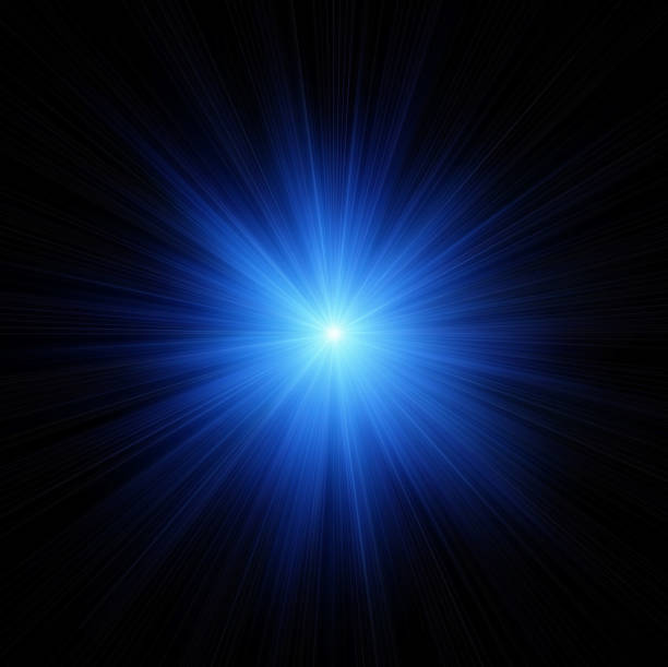 blue star flash - aura stock photos and pictures