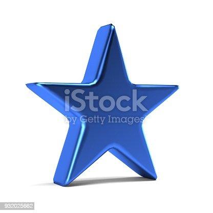 871072052 istock photo Blue Star Icon. 3D Gold Render Illustration 932025662