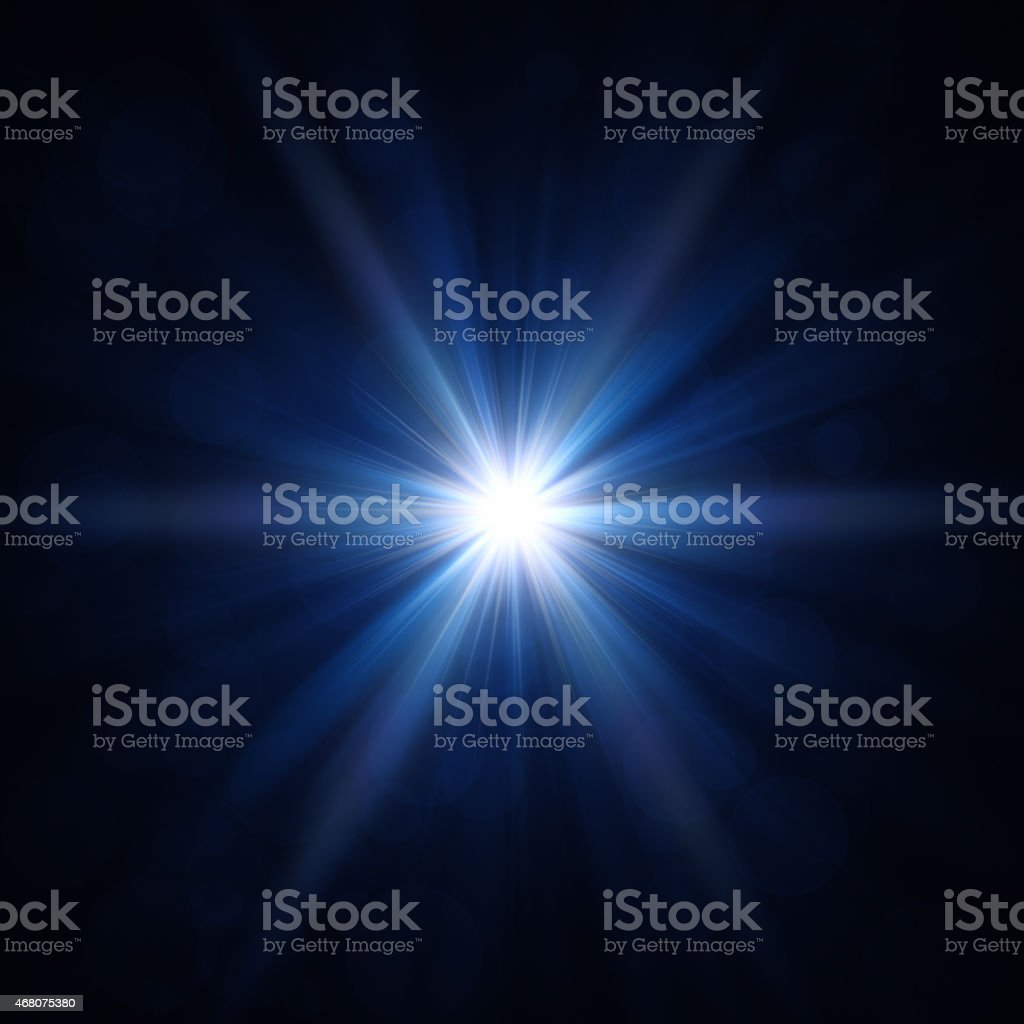 Estrella azul luz - foto de stock