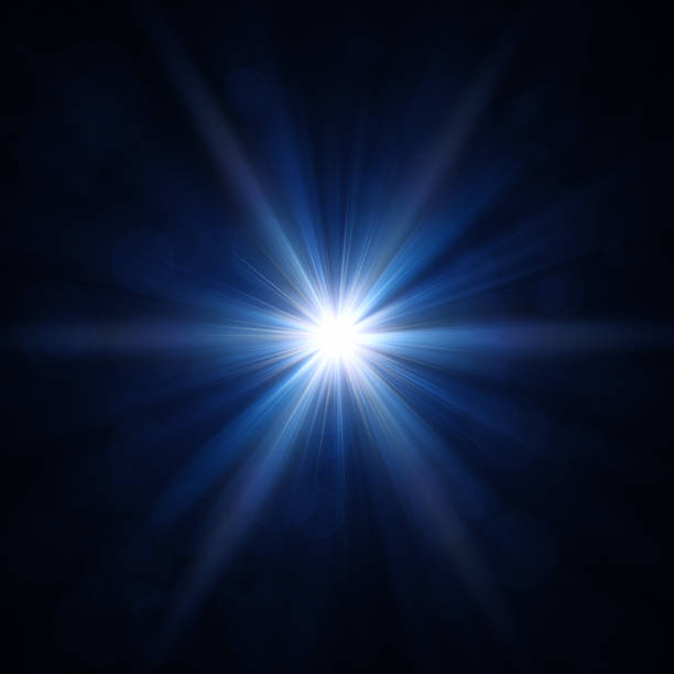 blue star light - light effect stock pictures, royalty-free photos & images