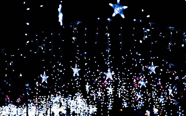 Blue star lights stock photo