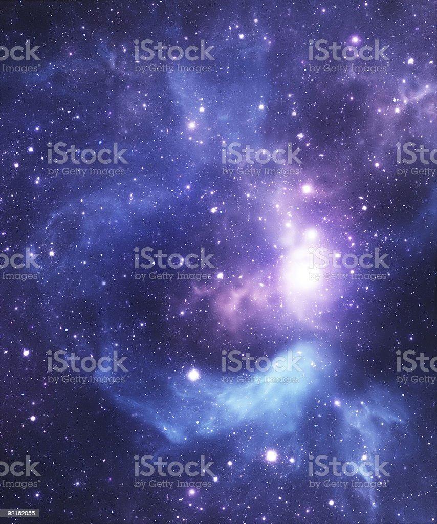 Blue starfield background stock photo