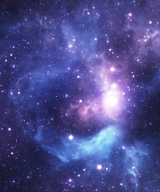 Blue starfield background stock photo