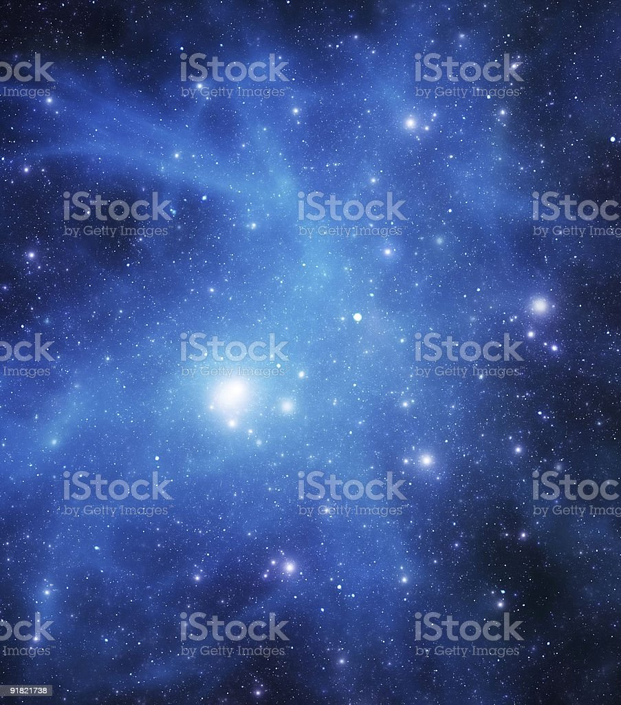 Blue starfield royalty-free stock photo