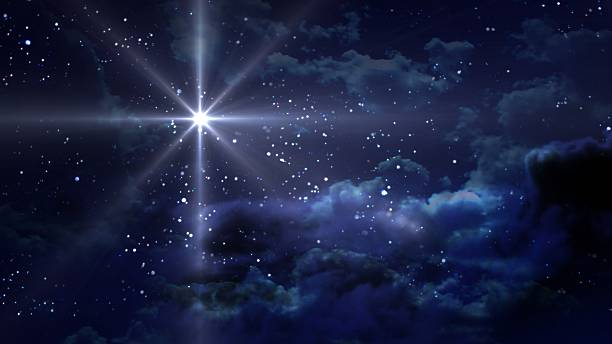 blue starry night - nativity scene stock pictures, royalty-free photos & images