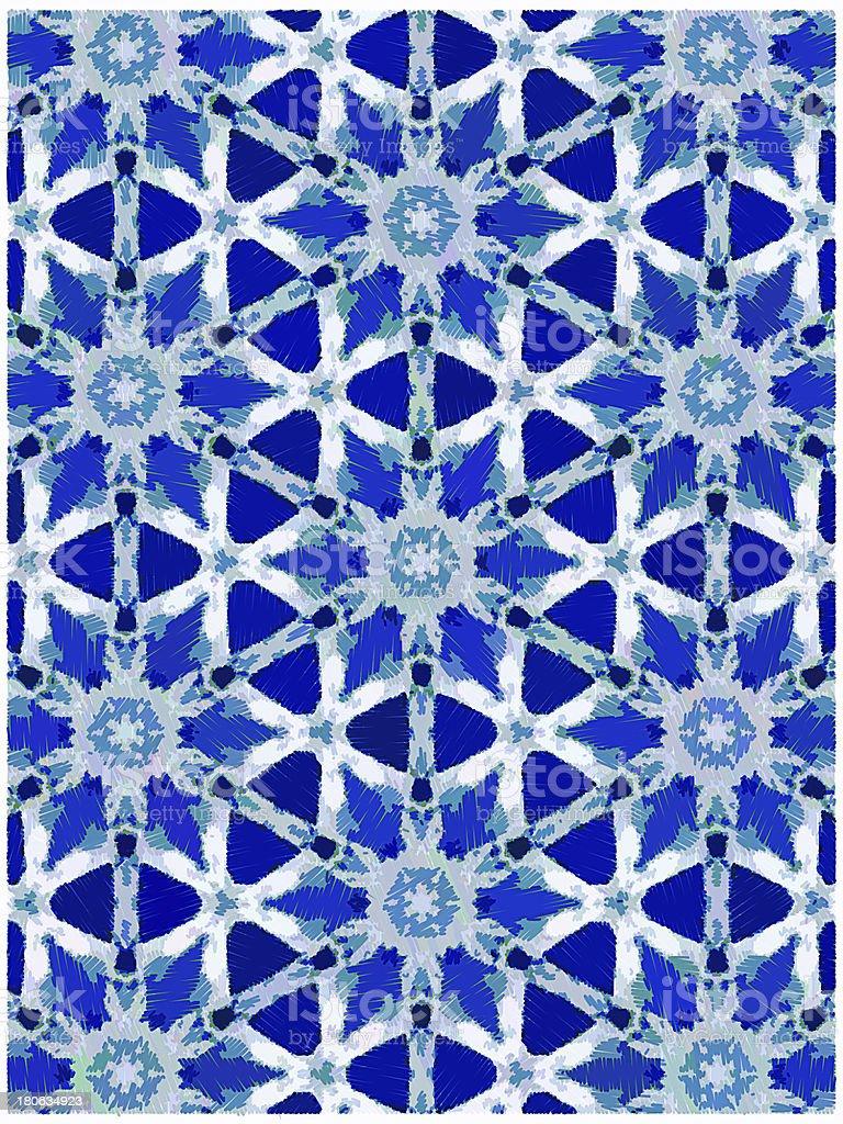 blue stars kaleidoscope royalty-free stock photo