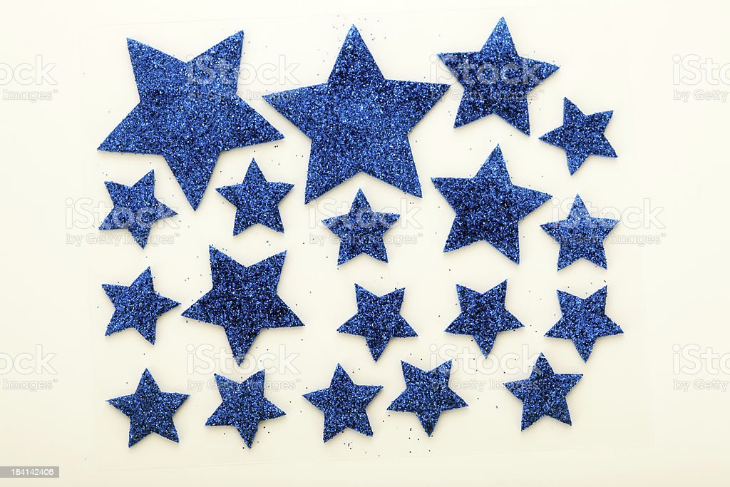 Blue Stars stock photo