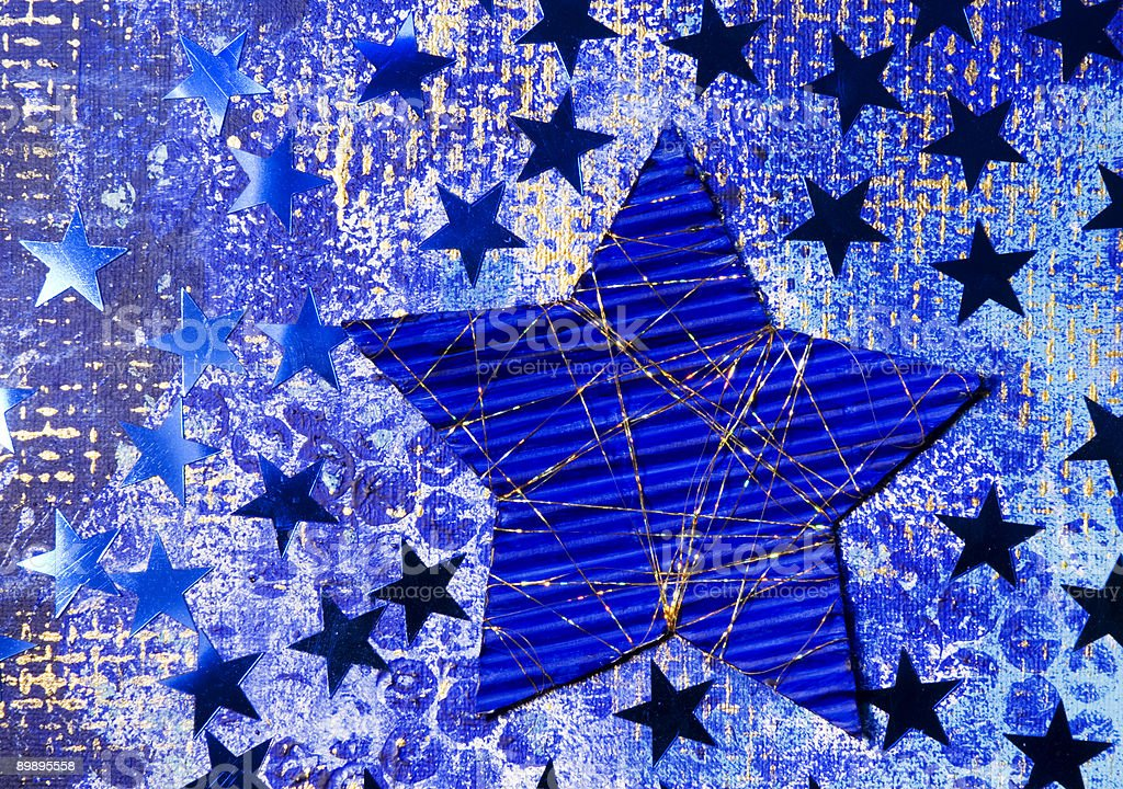Blue stars xmas background royalty-free stock photo
