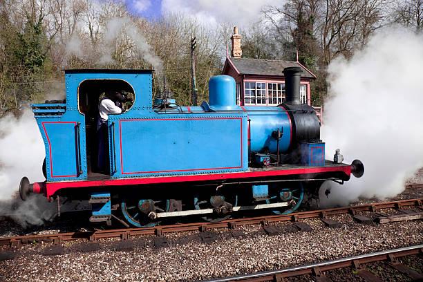 Blue Steam Train - Thomas the Tank Engine colours stock photo
