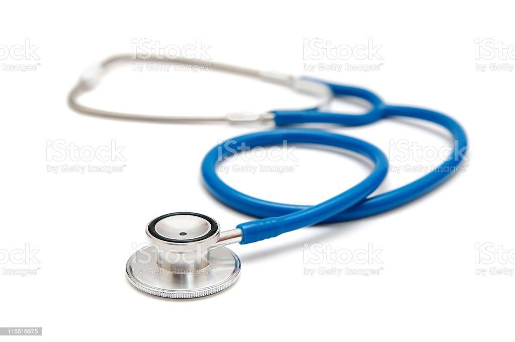 Blue stethoscope stock photo